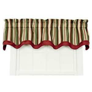 Montego Stripe Green 70 x 15-Inch Bradford Window Valance