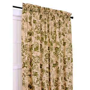 Palmer Green Floral Toile 50-Inch-by-54-Inch Tailored Panel