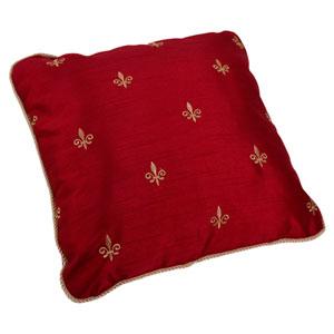 Fleur Di Lis Faux Silk 17-Inch Toss Pillow
