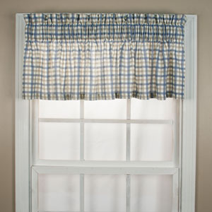 Bristol Two-Tone Plaid 12 x 70-Inch Tailored Valance Window Curtain