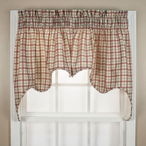 Bristol Two-Tone Plaid 70 x 28-Inch Empress Two Piece Lined Swag Curtain Set