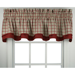 Bristol Two-Tone Plaid 15 x 70-Inch Bradford Valance Window Curtain