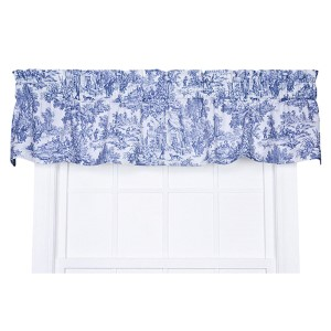 Victoria Park Blue 70 x 12-Inch Tailored Valance