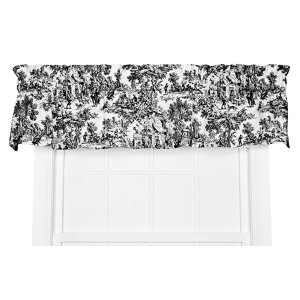 Victoria Park Black 70 x 12-Inch Tailored Valance