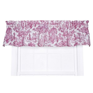 Victoria Park Red 70 x 12-Inch Tailored Valance