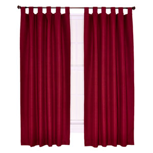 Crosby Bordeaux Thermal Insulated 80-by-54 inch Tab Top Foamback Curtains