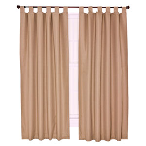Crosby Linen Thermal Insulated 80-by-72 inch Tab Top Foamback Curtains