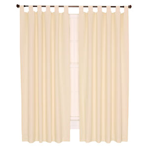 Crosby Natural Thermal Insulated 160-by-84 inch Double Width Tab Top Foamback Curtains
