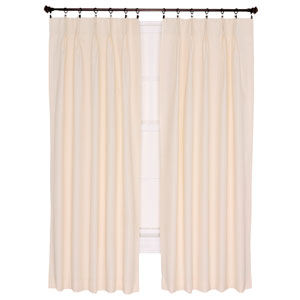 Crosby Natural Thermal Insulated 48-by-63 inch Pinch Pleated Foamback Curtains