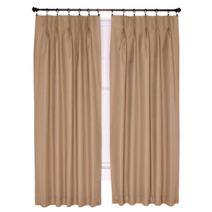 Crosby Linen Thermal Insulated 48-by-63 inch Pinch Pleated Foamback Curtains