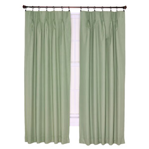 Crosby Sage Thermal Insulated 48-by-63 inch Pinch Pleated Foamback Curtains