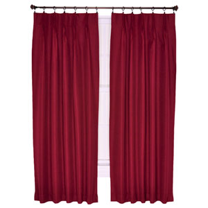 Crosby Bordeaux Thermal Insulated 96-by-84 inch Pinch Pleated Foamback Patio Panel