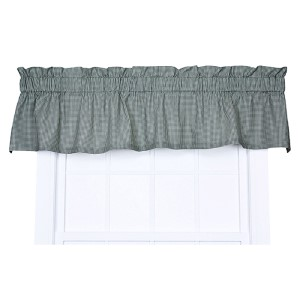 Logan Check Green 70 x 12-Inch Tailored Valance