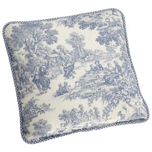 Victoria Park Blue 17-Inch Reversible Toss Pillow