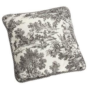 Victoria Park Black 17-Inch Reversible Toss Pillow