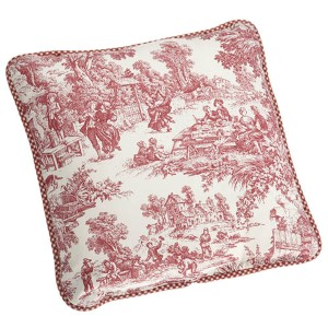 Victoria Park Red 17-Inch Reversible Toss Pillow