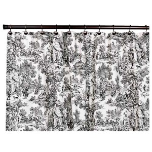 Victoria Park Black 70 x 72-Inch Shower Curtain