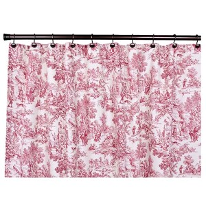 Victoria Park Red 70 x 72-Inch Shower Curtain