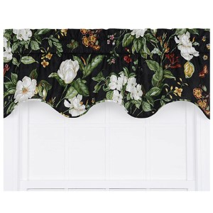 Garden Images Black 50 x 15-Inch Lined Duchess Filler Valance