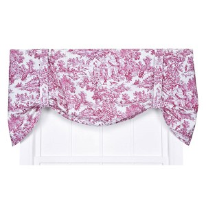 Victoria Park Red 60 x 24-Inch Tie-Up Valance