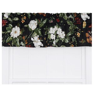 Garden Images Black 50 x 15-Inch Tailored Valance