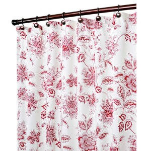 Winston Red 70 x 72-Inch Shower Curtain