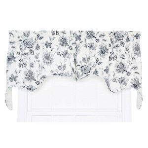 Winston Navy 70 x 28-Inch Two-Piece Lined Swag Valance
