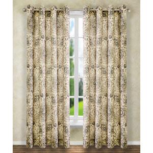 Cadogen Grey 63 x 50-Inch Lined Grommet Curtain Single Panel