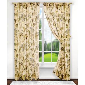 Brissac Linen 63 x 70-Inch Tailored Curtain Panel Pair with Tiebacks