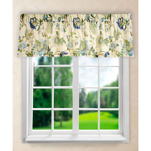 Brissac Blue 15 x 70-Inch Tailored Valance