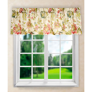 Brissac Red 15 x 70-Inch Tailored Valance