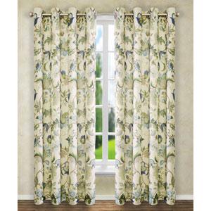 Brissac Blue 84 x 50-Inch Lined Grommet Curtain Single Panel