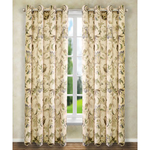 Brissac Linen 84 x 50-Inch Lined Grommet Curtain Single Panel