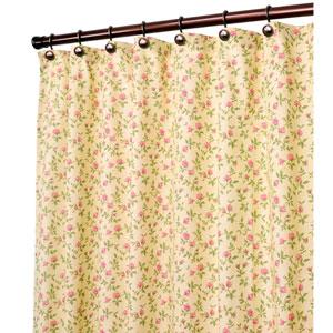 Marcia Green Floral Vine Print 72 x 70-Inch Shower Curtain