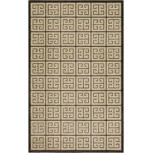 Meander Gray Charcoal Geometric Rectangular: 5 Ft. x 8 Ft. Area Rug