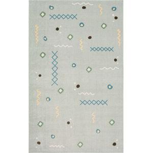 Tolani Gray Light Blue Abstract Rectangular: 5 Ft. x 8 Ft. Area Rug