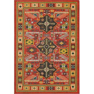 Channary Yellow and Multicolor Rectangular: 7 Ft. 5 In. x 10 Ft. Ornamental Area Rug