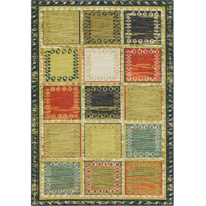 Sovanna Multicolor Rectangular: 9 Ft. x 12 Ft. Abstract Area Rug