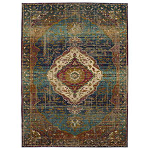 Meraki Peacock Rectangular: 5 Ft. x 8 Ft. Rug
