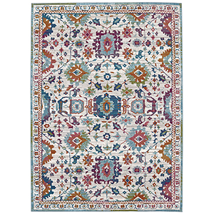 Meraki Sublime Multicolor Oyster Rectangular: 5 Ft. x 8 Ft. Rug