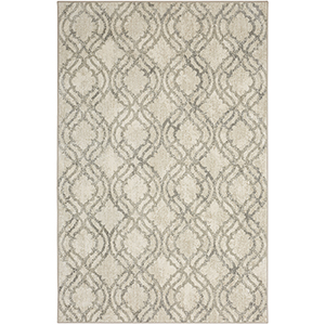 Euphoria Potterton Natural Willow Gray Bone White Rectangular: 6 Ft. 6 In. x 9 Ft. 6 In. Rug