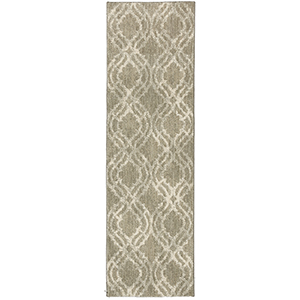 Euphoria Potterton Willow Gray Bone White Runner: 2 Ft. 4 In. x 7 Ft. 10 In.