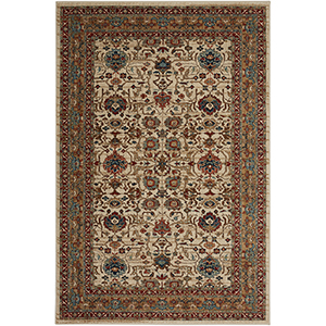 Spice Market Keralam Cream Multicolor Rectangular: 5 Ft. 3 In. x 7 Ft. 10 In. Rug