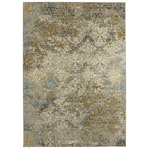 Touchstone Willow Gray Rectangular: 6 Ft. 6 In. x 9 Ft. 6 In. Rug