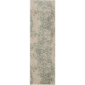 Cosmopolitan Nirvana Jade Antique White Runner: 2 Ft. 4 In. x 7 Ft. 10 In.