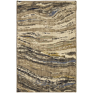 Enigma Continuum Smokey Grey Multicolor Rectangular: 2 Ft. x 3 Ft. Rug