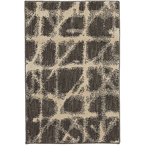 Enigma Contact Linen Smokey Gray Rectangular: 2 Ft. x 3 Ft. Rug