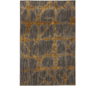 Enigma Smokey Gray Gold Rectangular: 2 Ft. x 3 Ft. Rug