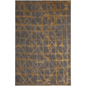 Enigma Smokey Gray Gold Rectangular: 5 Ft. 3 In. x 7 Ft. 10 In. Rug