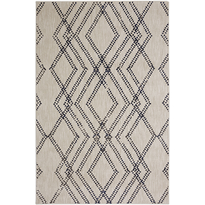 Cosmopolitan Ink Blue Antique White Rectangular: 5 Ft. 3 In. x 7 Ft. 10 In. Rug